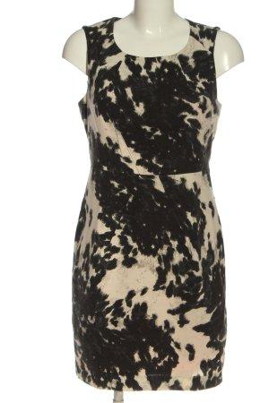 Bandolera Midi Dress natural white-black allover print casual look