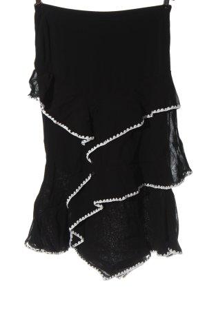 Bandolera Midi Skirt black-white elegant