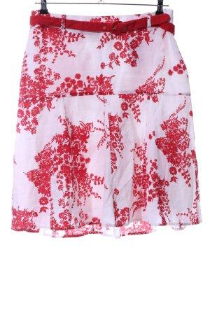 Bandolera Midi Skirt red-white flower pattern elegant