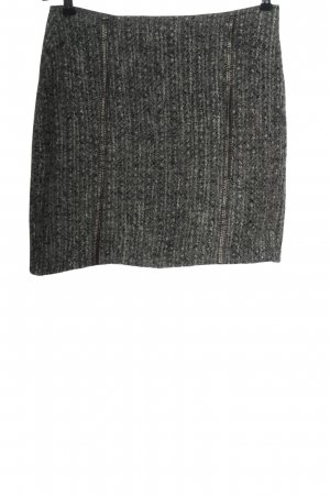 Bandolera Miniskirt light grey flecked casual look