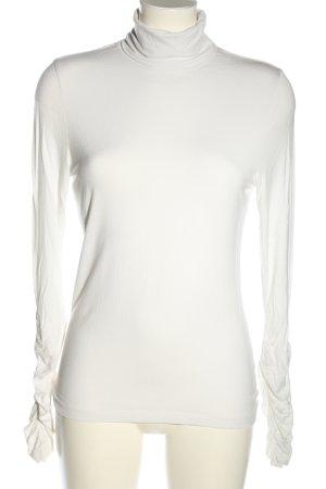 Bandolera Camisa de cuello de tortuga blanco look casual