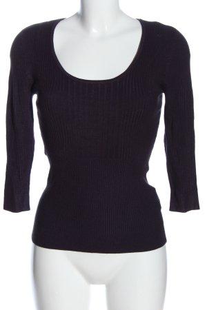 Bandolera Ribbed Shirt lilac casual look