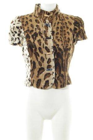 Bandolera Blusa de cuello alto degradado de color estampado animal