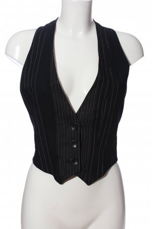 Bandolera Waistcoat black-white striped pattern classic style