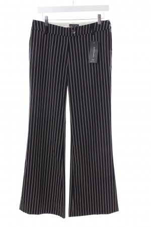Bandolera Jersey Pants black-cream striped pattern business style