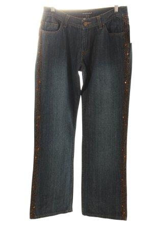 Bandolera Straight-Leg Jeans dunkelblau Casual-Look