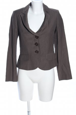 Bandolera Blazer sweat marrone motivo a righe stile casual