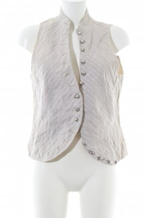Bandolera Traditional Vest light grey-white striped pattern casual look