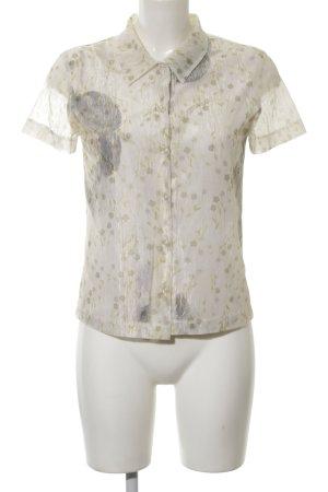 Bandolera Transparent Blouse flower pattern business style