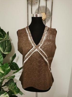 Bandolera Tricot Damen Shirt Tanktop Used Look Größe XL braun