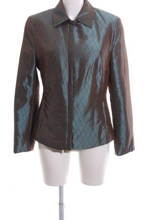 Bandolera Between-Seasons Jacket brown-turquoise flecked classic style