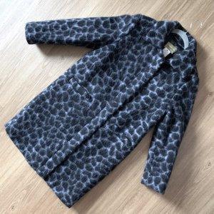 Bandolera Cappotto in lana grigio ardesia-nero