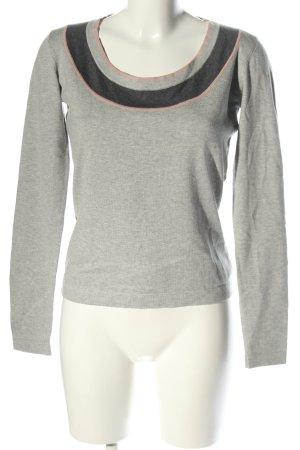Bandolera Wool Sweater light grey-black flecked casual look