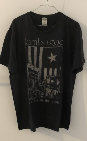 Bandshirt T-shirt nero-bianco