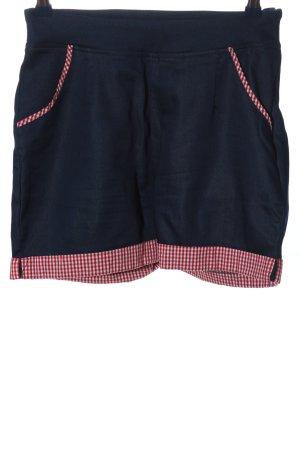 Banned Szorty z wysokim stanem niebieski-czerwony Wzór w kratkę W stylu casual