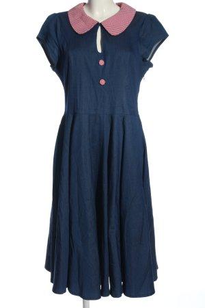 Banned Sukienka z krótkim rękawem Wzór w kratkę W stylu casual