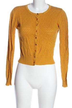 Banned Gebreide cardigan licht Oranje casual uitstraling