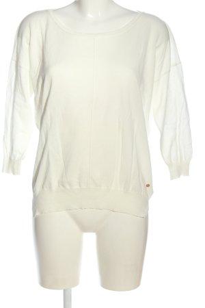 Barbara Becker Cienki sweter z dzianiny biały W stylu casual