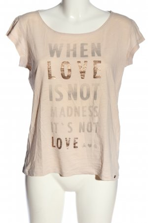 Barbara Becker Print Shirt cream printed lettering casual look