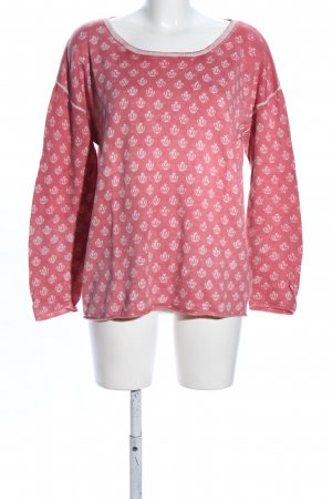 Barbara Becker Crewneck Sweater pink-white allover print casual look