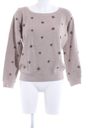 Barbara Becker Crewneck Sweater cream-silver-colored casual look