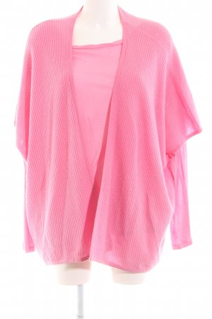 Barbara Becker Strick Twin Set pink Zopfmuster Casual-Look