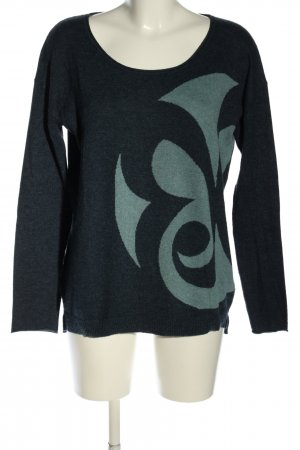 Barbara Becker Knitted Sweater blue-turquoise graphic pattern casual look