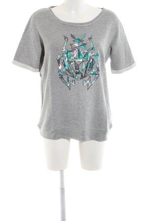 Barbara Becker Sweatshirt gris clair moucheté style décontracté