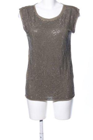 Barbara Becker T-shirt brun-bronze imprimé allover style décontracté