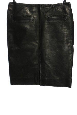 Barbara Bui Leather Skirt green casual look