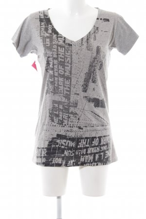 Barbara Bui Print Shirt light grey-black printed lettering casual look