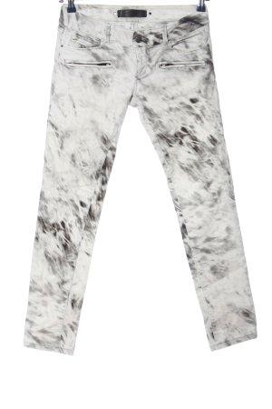 Barbara Bui Jeans coupe-droite blanc-noir style décontracté