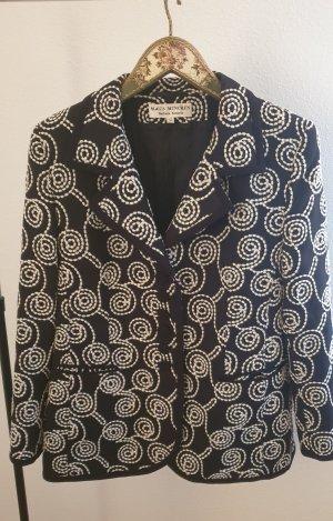 Barbara Kessels Blazer en jersey noir-blanc polyester