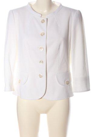 Barbara Kessels Klassischer Blazer biały W stylu casual