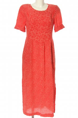 Barbara Kessels Sukienka midi czerwony-biały Abstrakcyjny wzór W stylu casual
