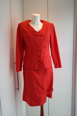 Ladies' Suit red-salmon polyamide