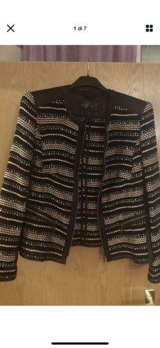 Barbara Lebeck stoff echt Leder Jacke gr M 38 neu np 100€