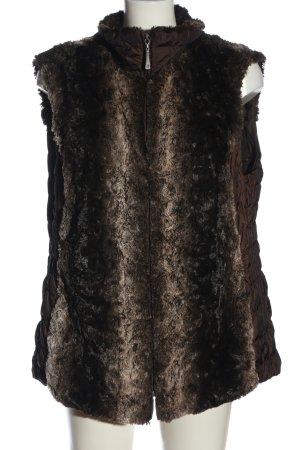 BARBARA LEBEK Smanicato in ecopelliccia marrone-nero stile casual