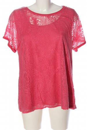 BARBARA LEBEK Blouse met korte mouwen roze grafisch patroon casual uitstraling