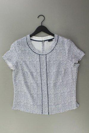 BARBARA LEBEK Kurzarmbluse Größe 42 gepunktet weiß aus Polyester