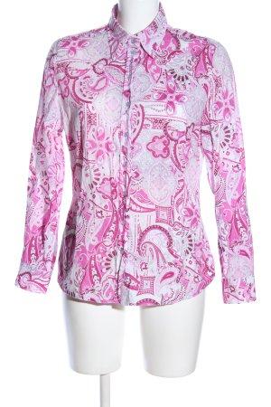 BARBARA LEBEK Langarmhemd weiß-pink Mustermix Casual-Look