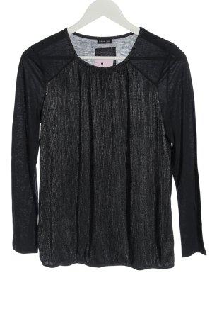 BARBARA LEBEK Koszulka z długim rękawem czarny Melanżowy W stylu casual