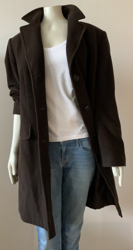 BARBARA LEBEK Cappotto in lana marrone scuro