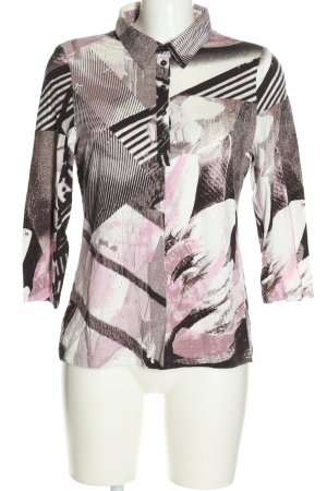 BARBARA LEBEK Polo shirt roze-zwart abstract patroon casual uitstraling