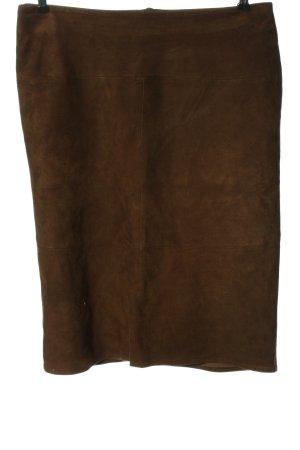 Barbara Lohmann Jupe en cuir brun style décontracté