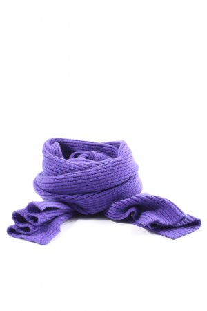 Barbara Lohmann Écharpe en tricot violet style décontracté