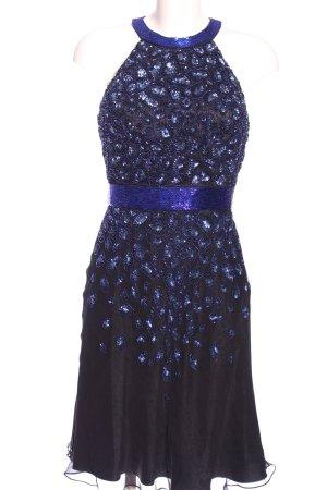 Barbara Schwarzer Abendkleid blau-schwarz Elegant