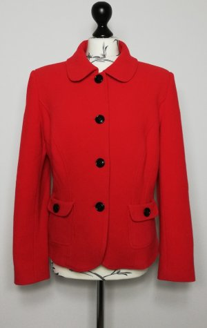 Barbara Schwarzer Wool Blazer red-black