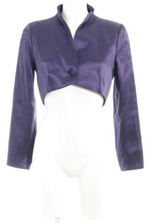 Barbara Schwarzer Boléro violet style mouillé
