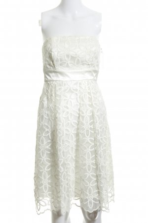 Barbara Schwarzer Cocktail Dress white flower pattern elegant